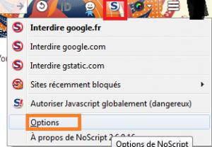 NoScript Firefox_Options