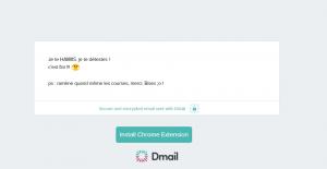Dmail_lecture email encrypté (sans l'extension installée)