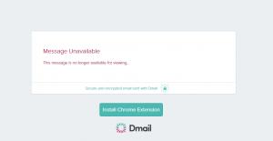 Dmail_message supprimée