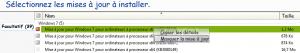 Windows Update_Masquer mise à jour