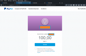 Paypalme_url personnalisée