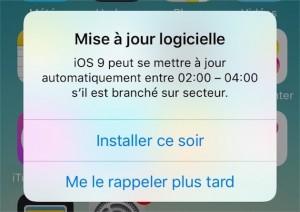 iOS 9.1_mise à jour bug alarme