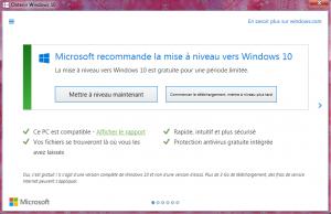 Windows 10_mise à jour recommandée