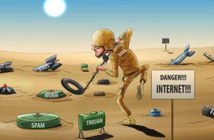 Internet_danger malware spam vers virus trojan