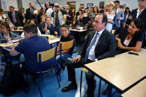François Hollande Najat Vallaud-Belkacem_rentrée scolaire 2016 2017 Orléans