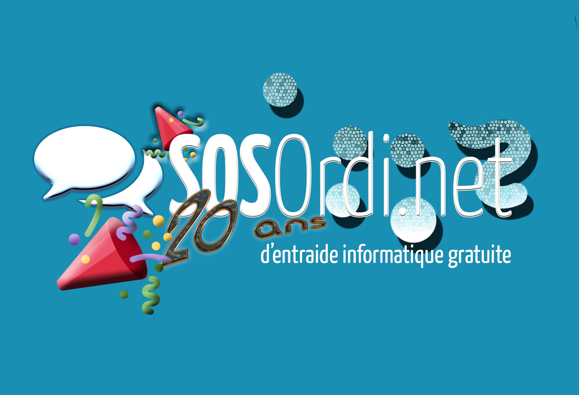 SOSOrdi.net a 20 ans : début des festivités avec le concours de l'été ! (qui dure moins de 20 ans)