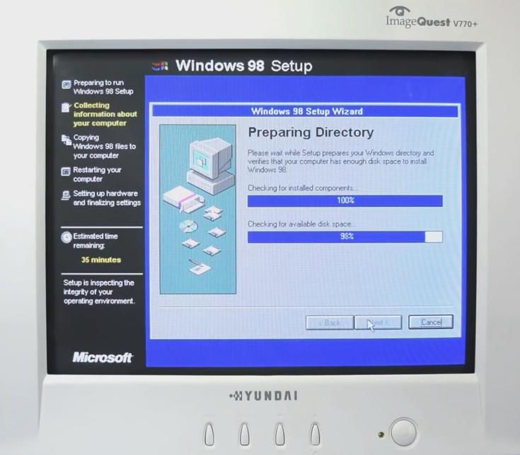 [Insolite] Windows 98 ressuscité : c'est possible (c'est l'année des 20 ans de tout le monde...) !