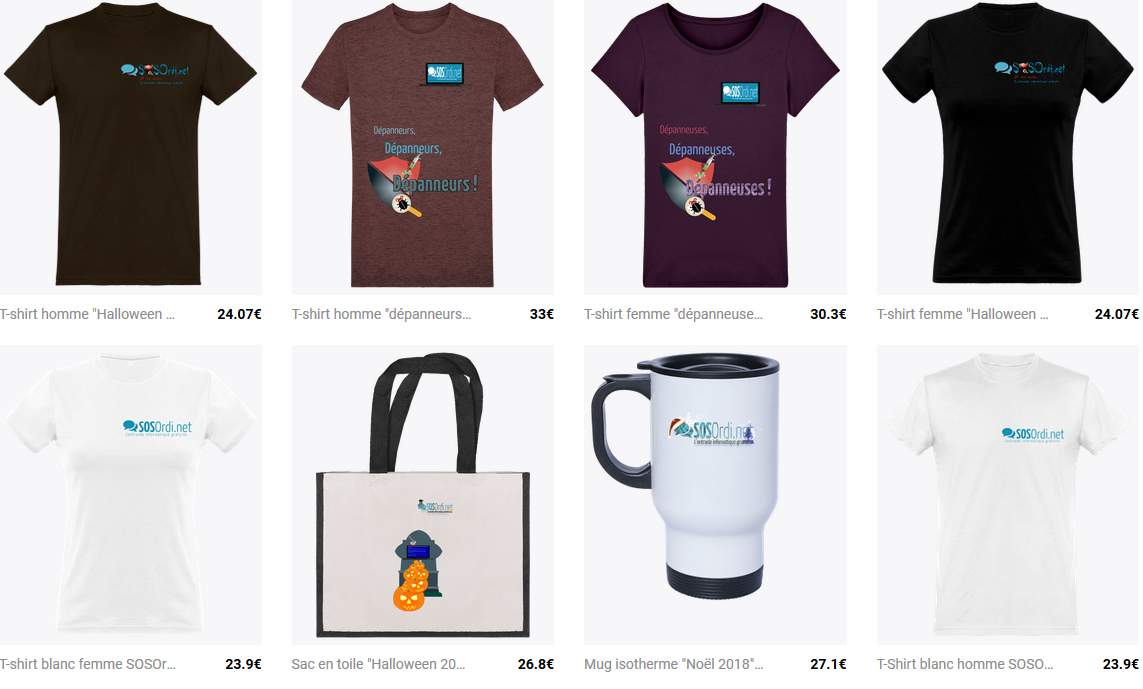 SOSOrdi.net : les goodies officiels !