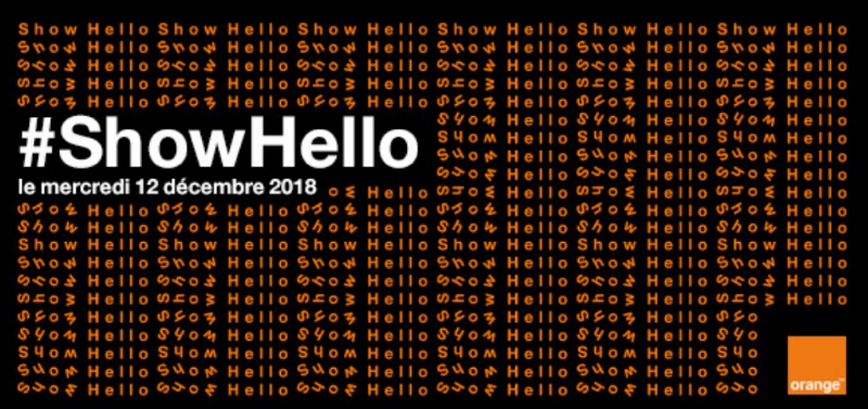 Show Hello 2018 : la conférence d'Orange aujourd'hui, à partir de 10 heures !