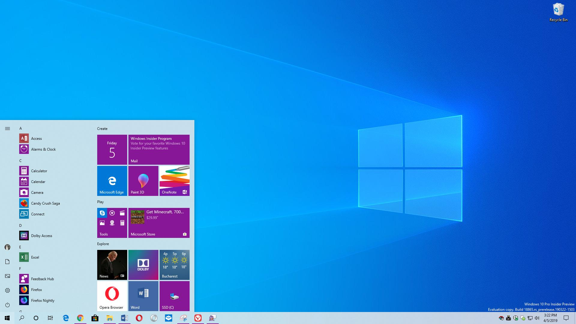 Windows 10 1903 (19H1) : nouveautés de la May Update (ex-April Update) !