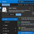 Gmail au sein de la messagerie de Microsoft...