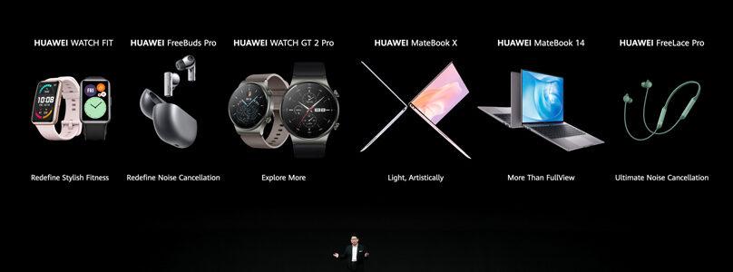 Huawei sort de son chapeau magique non pas un mais six nouveaux produits...