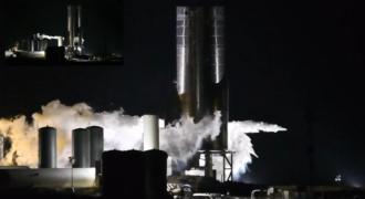 Starship : le prototype SN-8 et ses trois moteurs Raptor ont flamboyé avec succès à Boca Chica ! (l'espoir s'est embrasé…)