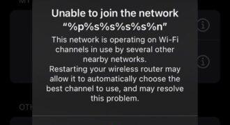"""""""%p%s%s%s%s%n"""" : quand un drôle de réseau Wi-fi apparaît sur les terminaux Apple ! (ne PAS se connecter…)"""