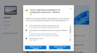Windows 11 : enfin, Microsoft consent à préciser les motifs d'exclusion en actualisant PC Health Check !